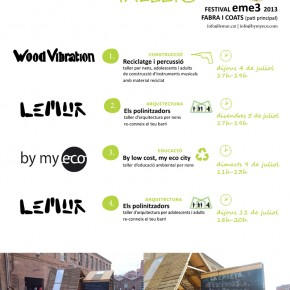 WORKSHOPS THE EFFICIENT CONTAINER BY LEMUR, BY MY ECO AND WOODVIBRATION